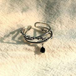 Foxlocket - 925 纯银人造水晶多层开口戒指