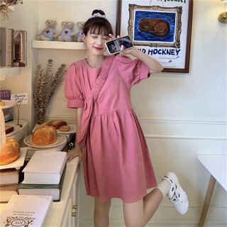 Whoosh - Puff-Sleeve Shift Dress