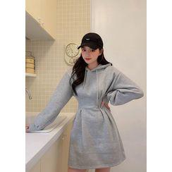chuu - A-Line Mini Hoodie Dress