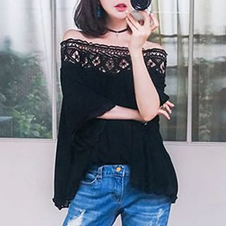Champi - Off-Shoulder Lace Tunic