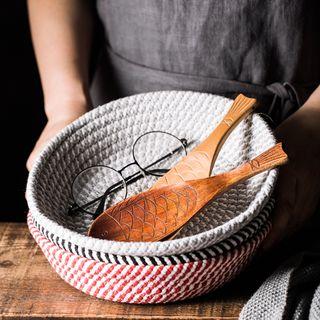 Cassandra - Patterned Circular Placemat / Basket Organizer