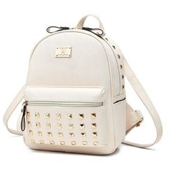 miim(ミーム) - Studded Faux Leather Backpack