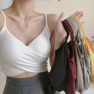 Shinsei - Inset Bra-Pad Cropped Camisole Top