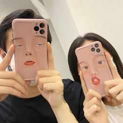 Mobby - Face Print Phone Case - iPhone 11 Pro Max / 11 Pro / 11 / XS Max / XS / XR / X / 8 / 8 Plus / 7 / 7 Plus / 6s / 6s Plus