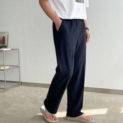 Seoul Homme - Band-Waist Straight Pants