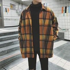 JUN.LEE - Contrast-Trim Flight Jacket