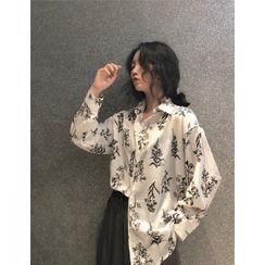 KAKAGA - Long Sleeve Printed Shirt