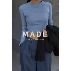 SIMPLY MOOD - Slim-Fit Cropped T-Shirt