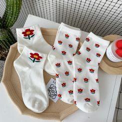 Olsin - Flower Print Socks