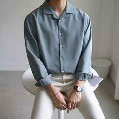 匡亿 - 纯色长袖衬衫