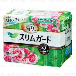 Kao - Laurier Ultra Slim Daily Absorbent Rose Scent Wing Feminine Pads 20.5cm