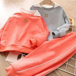 Seashells Kids - Kids Set: Collared Sweatshirt + Sweatpants