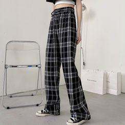 Janoosh - Plaid Straight-Leg Pants