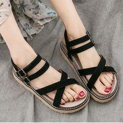 Weiya - Strappy Buckled Sandals