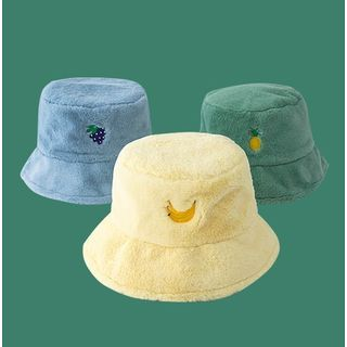 Hat Society - Embroidered Fleece Bucket Hat