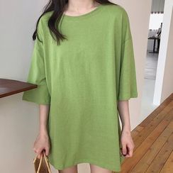 Dreamkura - Elbow-Sleeve Tunic T-Shirt