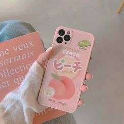 Vachie - Peach Print Phone Case - iPhone 11 Pro Max / 11 Pro / 11 / XS Max / XS / XR / X / 8 / 8 Plus / 7 / 7 Plus / 6S / 6S Plus