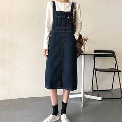 Dute - Shift Medium Long Denim Jumper Skirt