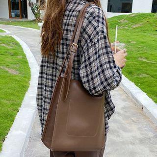 Barba - Faux Leather Tote Bag