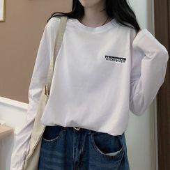 IndiGirl - Letter Print Long Sleeve T-Shirt
