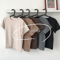 monroll - Plain Short-Sleeve T-Shirt