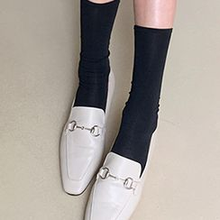 FROMBEGINNING - Square-Toe Horsebit Loafers