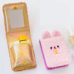 YUPIN - Chenille Animal Lipstick Pouch with Portable Mirror