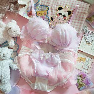 Prinsis - Set: Lace Detail Bralette + Panties