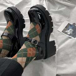 Bolitin - Platform-Heel Mary Janes