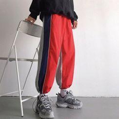 Soulcity - 插色慢跑褲運動褲