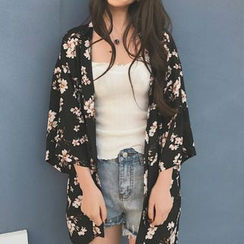 ALIN STYLE - Open-Front Kimono Jacket