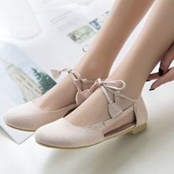 Freesia(フリージア) - Ankle-Tie Hollow Out Flats