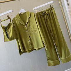 Almilo - Pajama Set: Long-Sleeve Top + Pants
