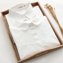 Snow Goose - 飾褶襯衫