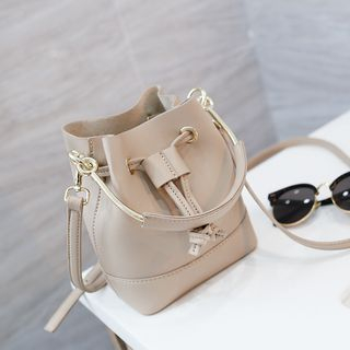 Rinka Doll - Faux Leather Bucket Bag