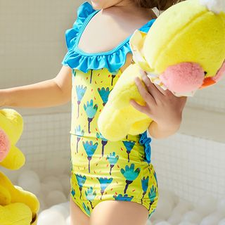 Roseate - Kids Frill-Trim Swimsuit