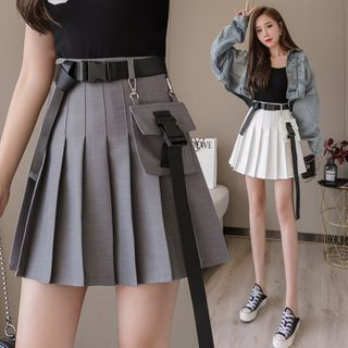 Gaius - Mini jupe plissée