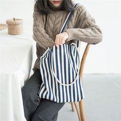 Eastin(イースティン) - Striped Canvas Tote Bag