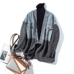 NIET - Knit Panel Denim Jacket