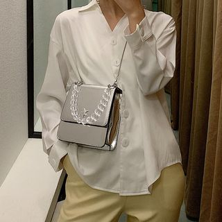 NewTown - Patent Shoulder Bag