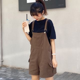 Shopherd - Short-Sleeve Plain T-Shirt / Overalls