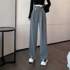 Magma(マグマ) - High-Waist Wide-Leg Dress Pants