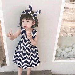 Cuckoo - Girls Sleeveless Patterned Dress