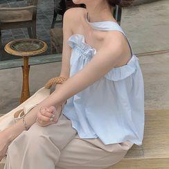 Shinobu - Cutout Cold-Shoulder Top