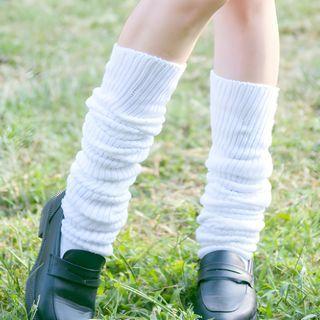 Sayaka - Ribbed Knit Slouch Socks