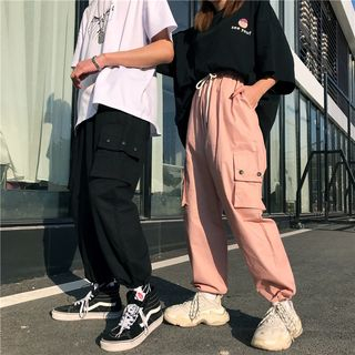 LINSI - Couple Matching Cargo Harem Pants