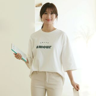 CLICK - Letter Loose-Fit T-Shirt
