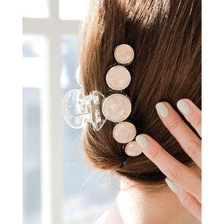 Miss21 Korea - Glitter Button Trim Hair Claw