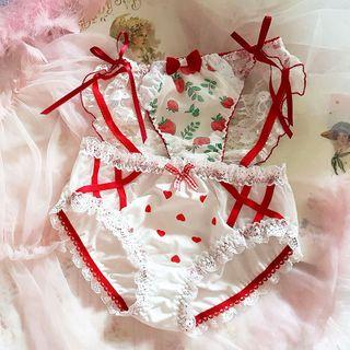 Prinsis - Lace Trim Printed Panties