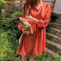 CHERRYKOKO - Button-Up Babydoll Dress